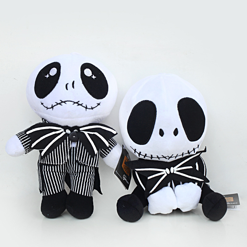 20-25 cm Nightmare Before Christmas Jack Skellington Peluş Oyuncak. Bebek Kafatası Jake Peluş Yumuşak Dolması Oyuncaklar Çocuklar Çocuklar Hediye